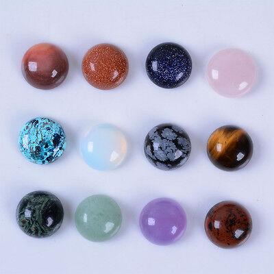 Wholesale 14mm Round cabochon CAB flatback semi-precious gemstone Save $ in bulk