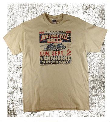 Men/'s Speedway Racing Vintage Shirt Large Sizing Free UK Post Sand T-Shirt