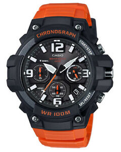 Casio-Men-039-s-Chronograph-Quartz-100m-Black-Orange-Resin-Watch-MCW100H-4AV