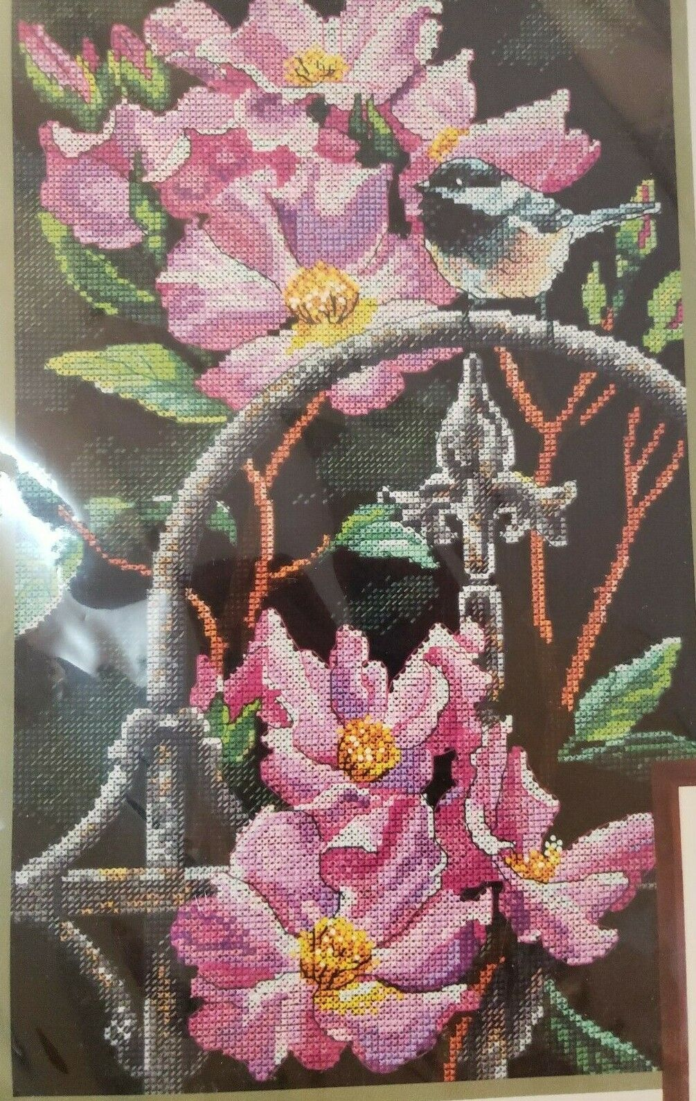 MXJSUA DIY 5D Diamond Painting by Number Kits Full Drill Rhinestone Embroidery Cross Stitch Pictures Arts Craft for Home Wall Decor,Blooming Epiphyllum-12x12In