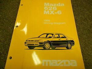 1996 MAZDA 626 MX-6 MX6 Electrical Wiring Diagram Service ...