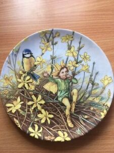 Wedgwood-Flower-Fairies-Collectors-Plate-034-The-Winter-Jasmine-Fairy-034