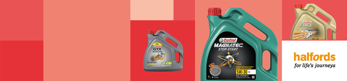 Shop event 20% off 4L Castrol Engine Oils from Halfords Free delivery included.