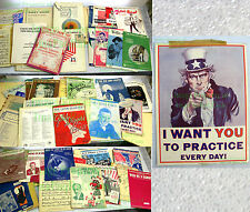 17# Lot of Vintage Sheet Music ☆ Estate Find 1920's to 1970's ☆ $$ Opportunity