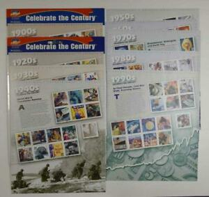 USPS CELEBRATE THE CENTURY 3182 - 3191 10 SHEET SET POSTAGE STAMPS 1900s - 1990s
