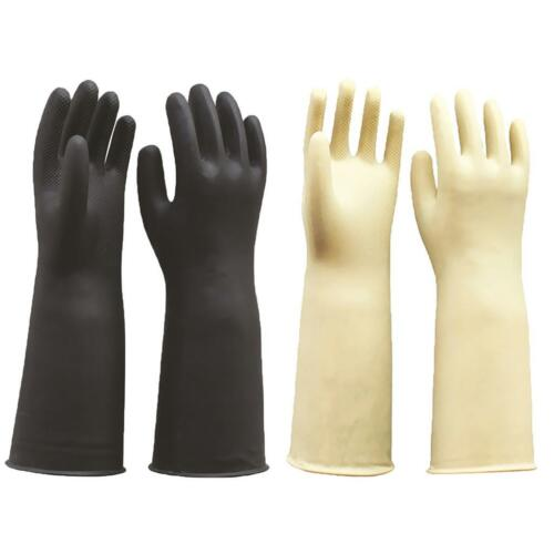 """2 Pairs Large Latex Gloves Gauntlets Long Sleeve Industrial Rubber 60cm 24/"""""""