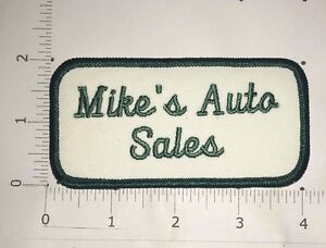 Mike Auto Sales >> Details About Mike S Auto Sales Patch Vintage