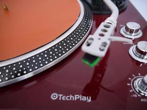 TechPlay-IEP212-TAN-Turntable-Mat-Record-Player-Anti-Static-29cm-Leatherette-NEW