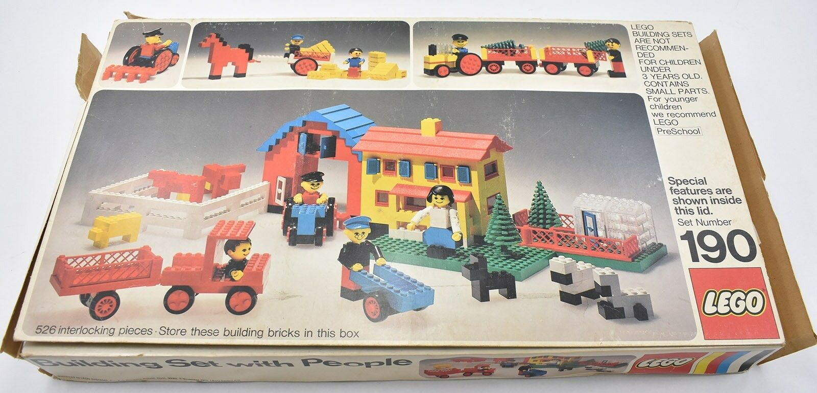 Lego Vintage Farm Building Set With People % Complete Complete Complete Set 1975 With Box ae4f07