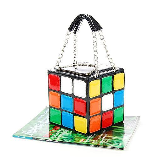 New Design Girl Laies Fashion Cute Magic Cube Bag Handbag Purse Gift PU Top