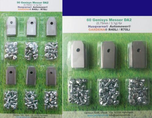 Encore moins chères 30 couteaux lames Automower ® Husqvarna ® Gardena ® r40li 0.75mm 3.1g