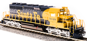Broadway Limited EMD SD40-2 ATSF 5048 Yellow Bonnet Paragon3 Sound DCDCC N