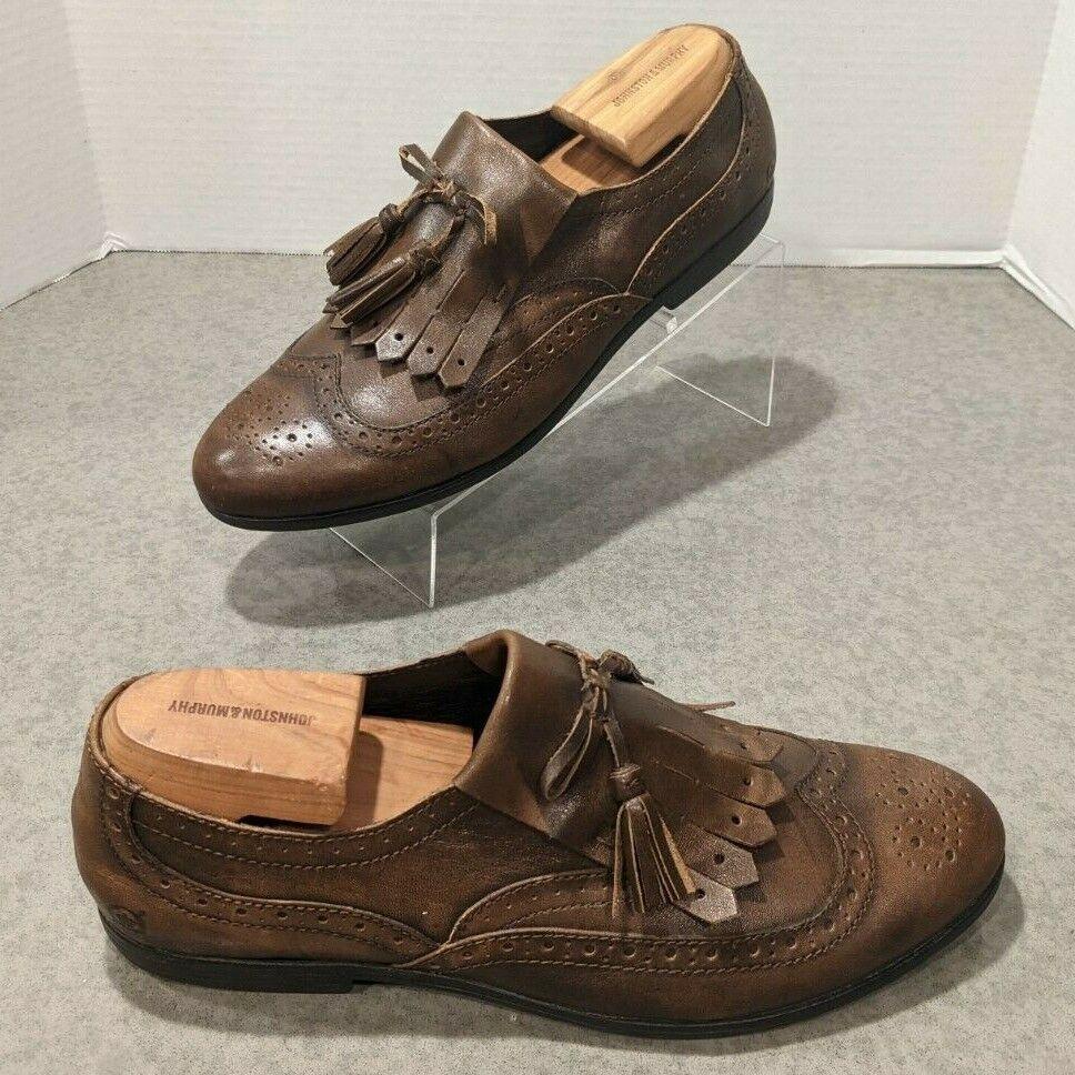 BORN Wingtip Tassle Loafers Women's Size 11 Burnished Brown D50506