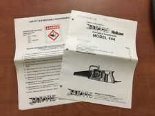Jarvis Wellsaw Portable Power Saw Model 444 Instructions Owners Manual Only