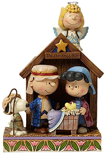 Enesco Jim Shore Peanuts Christmas Pageant Schroeder with Piano Key Wind Musical Figurine Multicolor