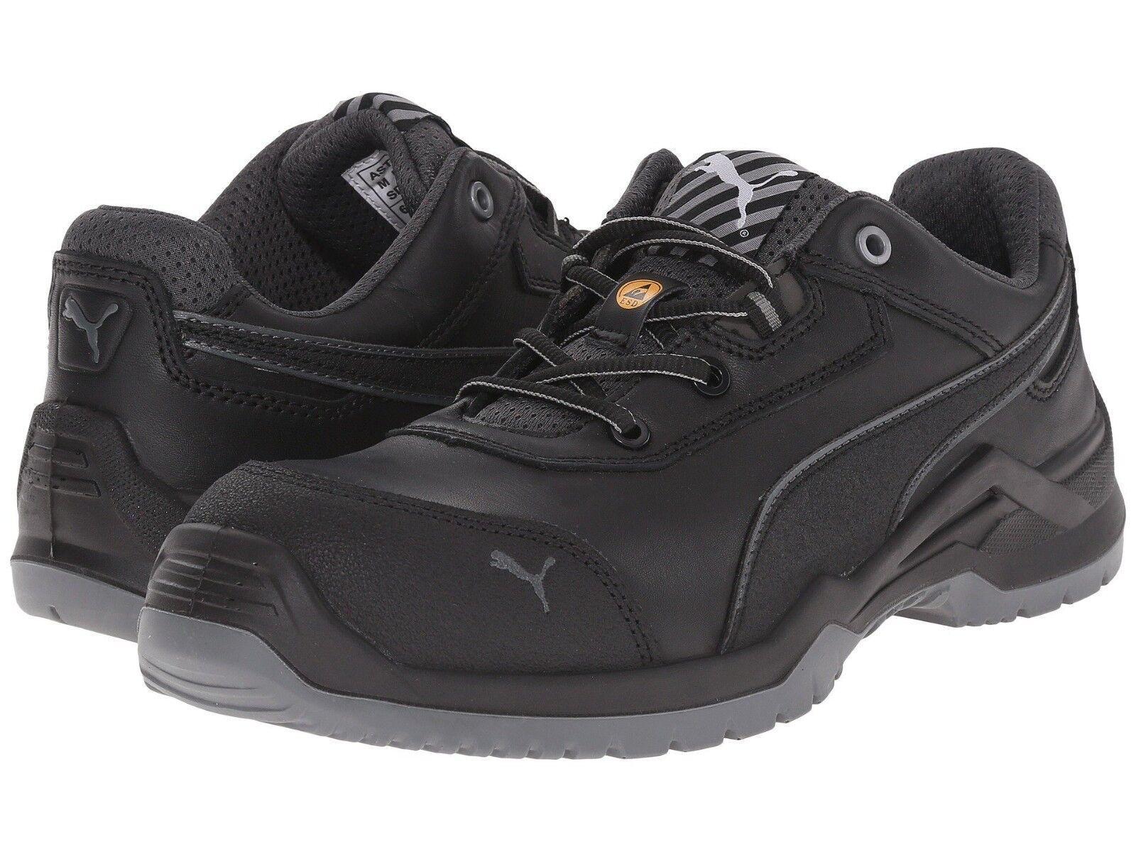 Puma Men's 644245 Argon Low Black S3 ESD SRC Fibreglass Cap Safety Shoes