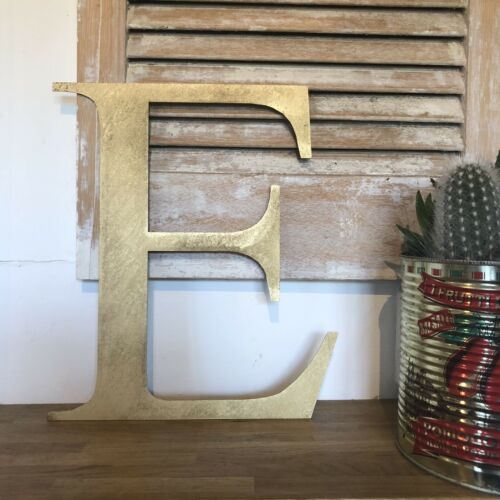 E RUSTIC GOLD METAL LETTER HOME HOUSE SIGN LETTERING WORD BOHO CLASSIC INTERIOR