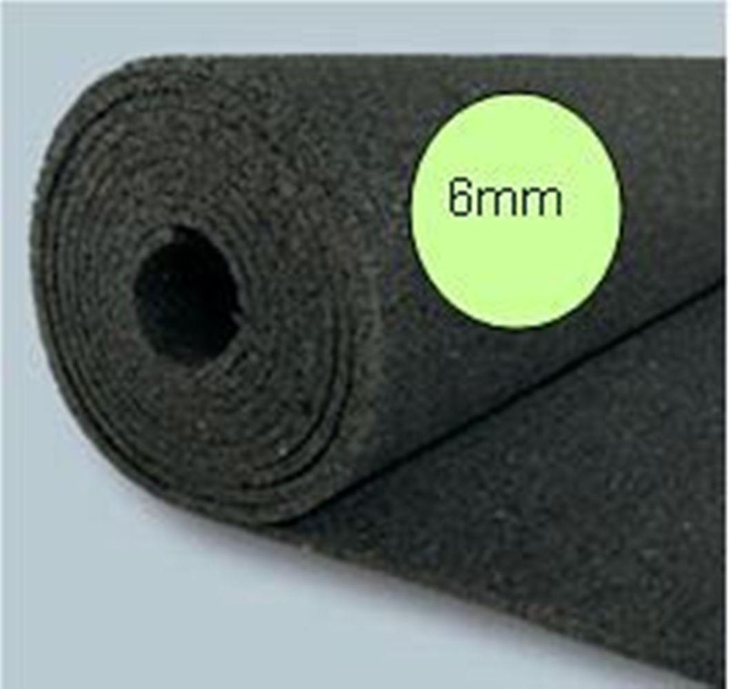 12,5m² Bautenschutzmatte BM , Gummimatte 1,25 x 10m,  6mm, für Holzterrassen
