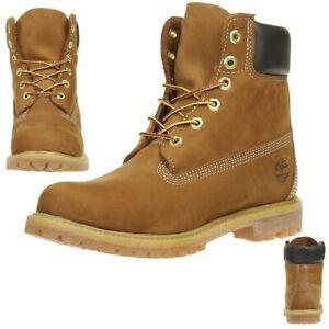 Details zu Timberland 6 Inch Premium Damen Stiefel Boots Waterproof 10360 Rust Nubuck