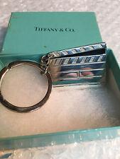RARE Tiffany & Co Silver Movie Clap Board Key Ring Key Chain Keychain RARE