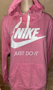 Palabra germen desarrollando  $80 Nueva! Nike grandes sólo hágalo Rosa Sudadera con capucha para mujer  bolsillo canguro Swoosh Camiseta | eBay