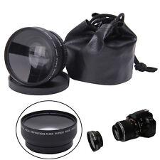 Pro 52mm 0.45X Fisheye Wide Angle Macro Lens for Nikon D3200 D3100 D5200 D5100