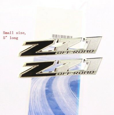 2x OEM Black Small Z71 OFF ROAD Emblems GM Silverado Sierra Tahoe Suburban aWu N