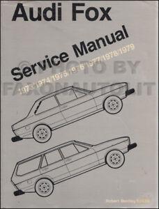 1973 1979 audi fox shop manual bentley repair service book with rh ebay ie