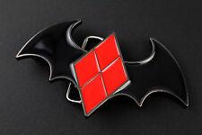 BATMAN VS HARLEY QUINN GUN METAL BELT BUCKLE DC COMICS SUICIDE SQUAD THE JOKER