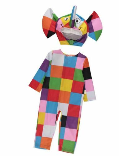 Boys Girls Baby Elmer the Patchwork Elephant Fancy Dress Costume Age 1-3 Years