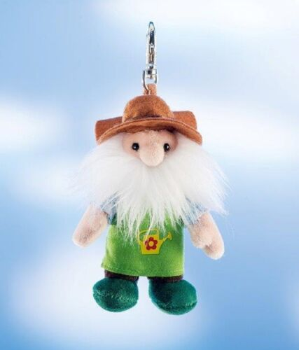 Rudolf Schaffer Gardener Gnome Key Ring SC228 Metal /& Plush