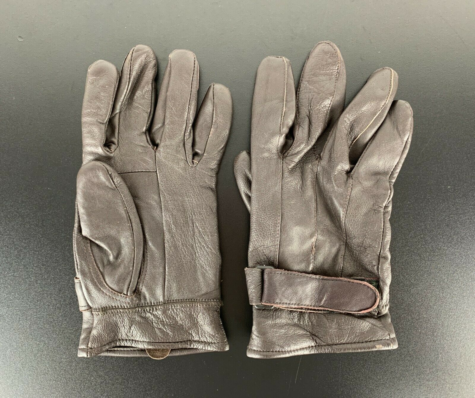 Genuine Leather Vintage Leather Gloves Real Braun XL
