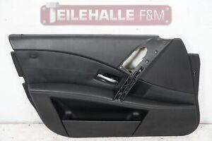 BMW-E61-E60-5er-Tuerverkleidung-Tuerpappe-vorne-links-Leder-Dakota-schwarz-7161951