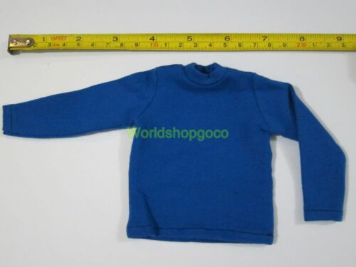 """1//6 Scale Tee Hot Blue Long Sleeves T-Shirt For 12/"""" Action Figure Toys"""