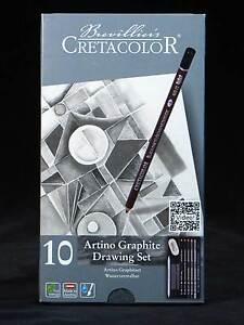 10-Piece-Graphite-Pencil-Drawing-Set-NEW-Artist-Quality-Pencils-Tin-Cretacolor