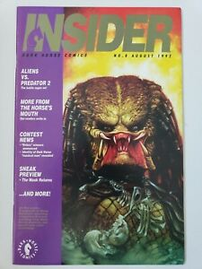 DARK-HORSE-INSIDER-COMICS-MAGAZINE-8-AUGUST-1992-PREDATOR-amp-GODZILLA-COVERS