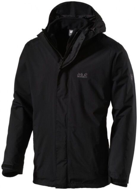 Jack Wolfskin Mens Iceland 3in1 Jacket Black 2xl