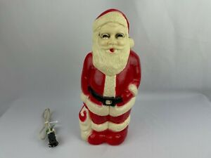 """Santa Claus 13"""" Blow Mold by Union Products Vintage Tested Rare Christmas Decor"""