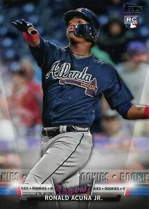 2018 Topps Update Ronald Acuna Jr. #S-21 Salute Rookie Card (RC)