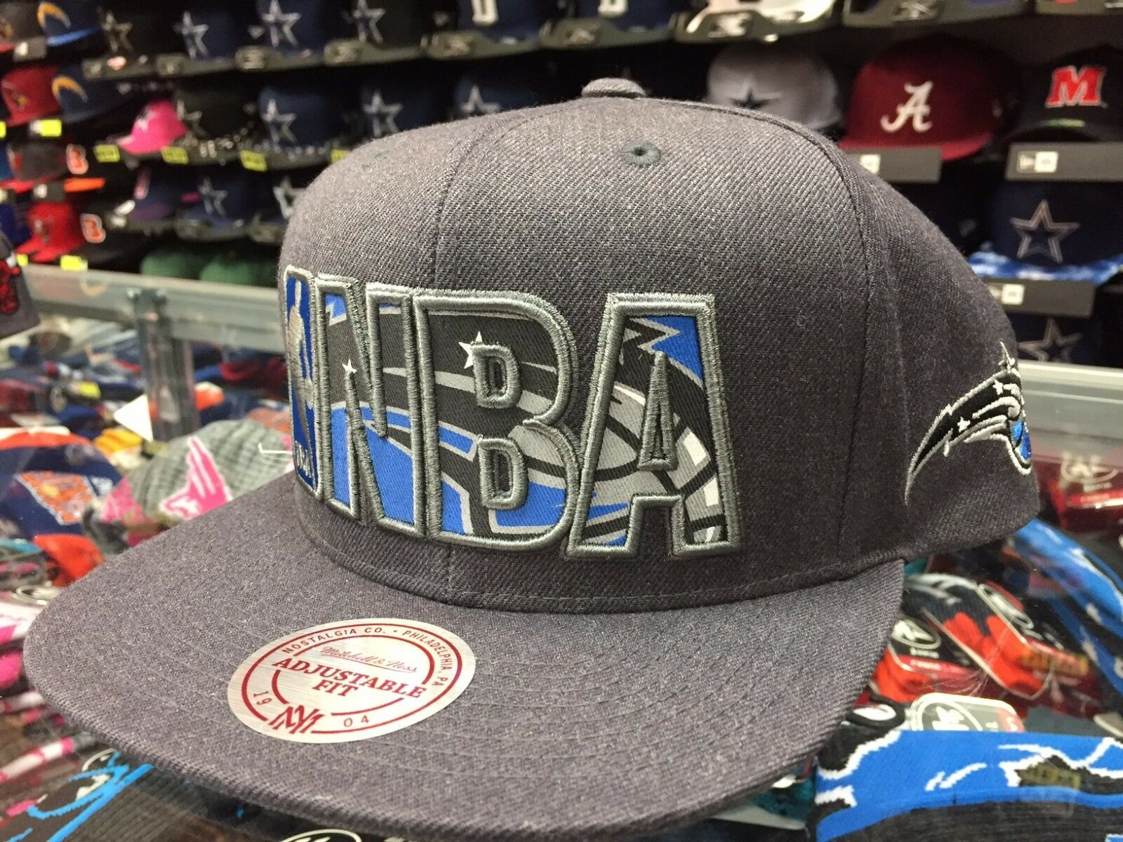 a74b76082 Orlando Magic Reflective Insider Snapback Mitchell & Ness Gray NBA Hat