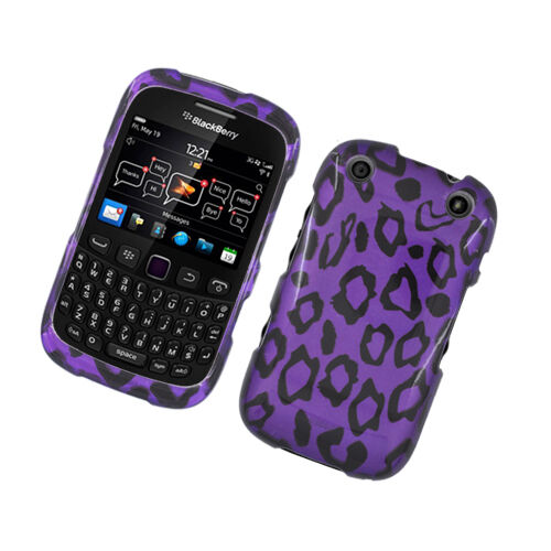 For BlackBerry Curve 9310 9320 HARD Protector Case Phone Cover Purple Leopard