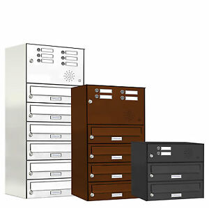 briefkasten briefkastenanlage mit klingel sprechanlage pulverbesch digital ebay. Black Bedroom Furniture Sets. Home Design Ideas