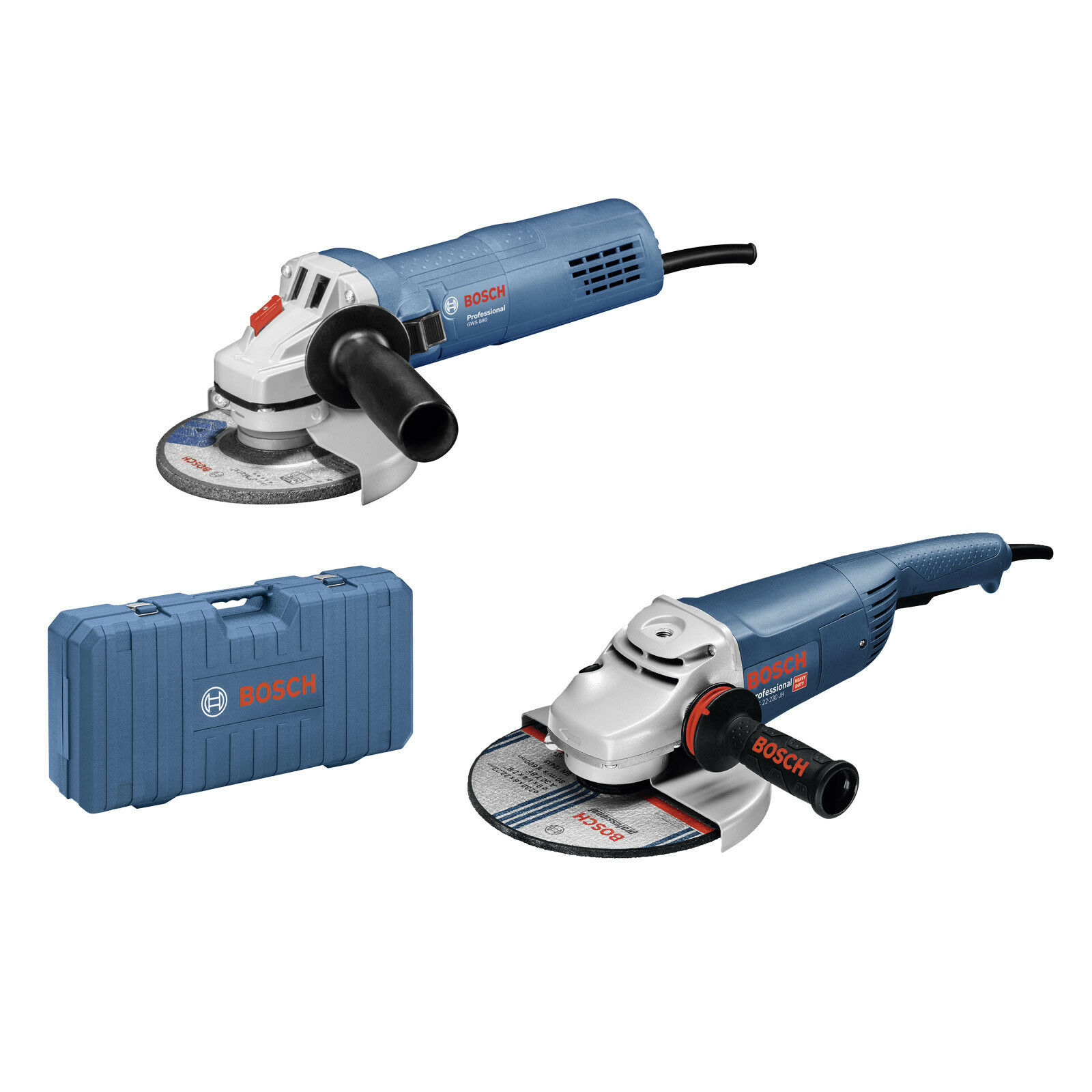 Bosch GWS 22-230 JH + GWS 880 Winkelschleifer Set 125 + 230 mm 880 + 2200 Watt