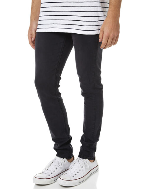 New Assembly Men's Decade Mens Jean Cotton Elastane Black