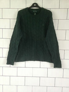 MENS-RALPH-LAUREN-URBAN-VINTAGE-RETRO-GREEN-CHUNKY-KNIT-JUMPER-PULLOVER-UK-LARGE