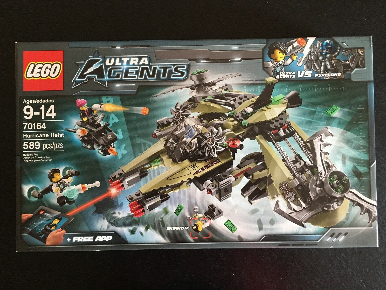 LEGO ULTRA AGENTS 70164 Hurricane Heist Set - FACTORY SEALED - RETIROT