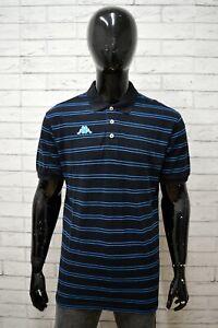 Polo-Uomo-KAPPA-Taglia-Size-XXL-Maglia-Shirt-Cotone-Nero-Manica-Corta