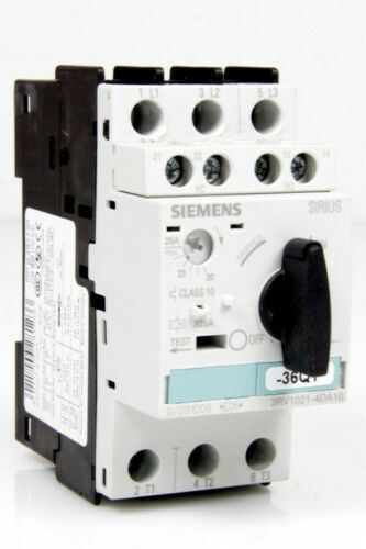Siemens Leistungsschalter 20-25A 3RV1021-4DA10 Hilfsschalter 3RV1901-1E