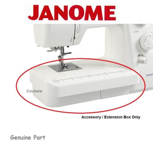 Accessory Extension Box Small white front box to fit a Janome Machine Only