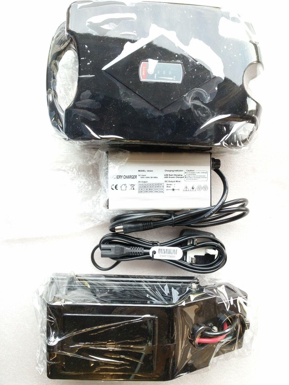 48V 10,4ah Rana Funda Litio LI-ION E-Bike Batería Samsung Celular 2A Cargador